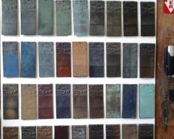 Bronzart Patina Samples